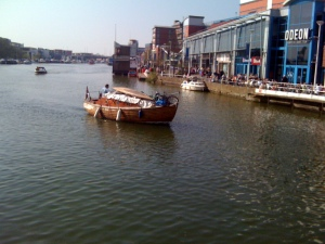 Wooden boat on the Brayford