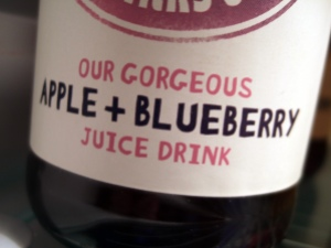 Apple and Blueberry Juice Drink
