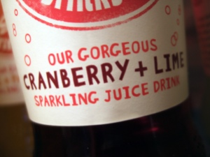 Cranberry and Lime Sparkling Juice Drink