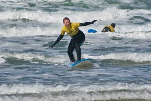 Surfing on Easter Sunday