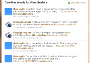 Twitter Search using Hashtags
