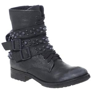 Ash Rem Studded Biker Ankle Boots