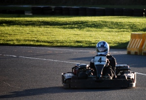 Concentration in qualifying - getting used to the kart