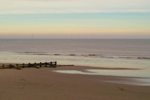 The sea at Skegness on Boxing Day