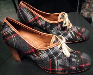 Tartan Script Low Court Shoe (2006)