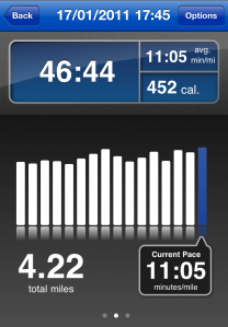 Runkeeper Stats for Run on 17th Jan