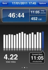 Runkeeper Stats for Run on 17th Jan