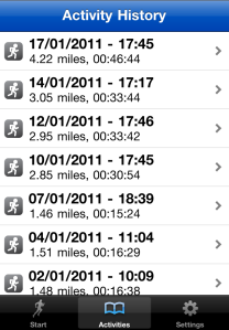 Runkeeper Activity Log