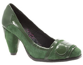 Suede Green Court Shoes