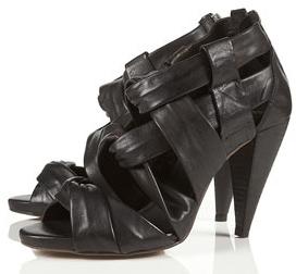 Black Twist Black Sandals