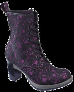 Diva Darcie 8-eye Boot - Black Pink Pizzo Santa Cruz