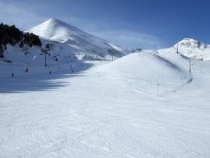 Blue skies, white snow