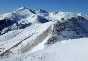 Looking at France from the highest point we skied from