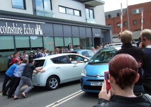Top Gear in Lincoln - Pushing the Nissan