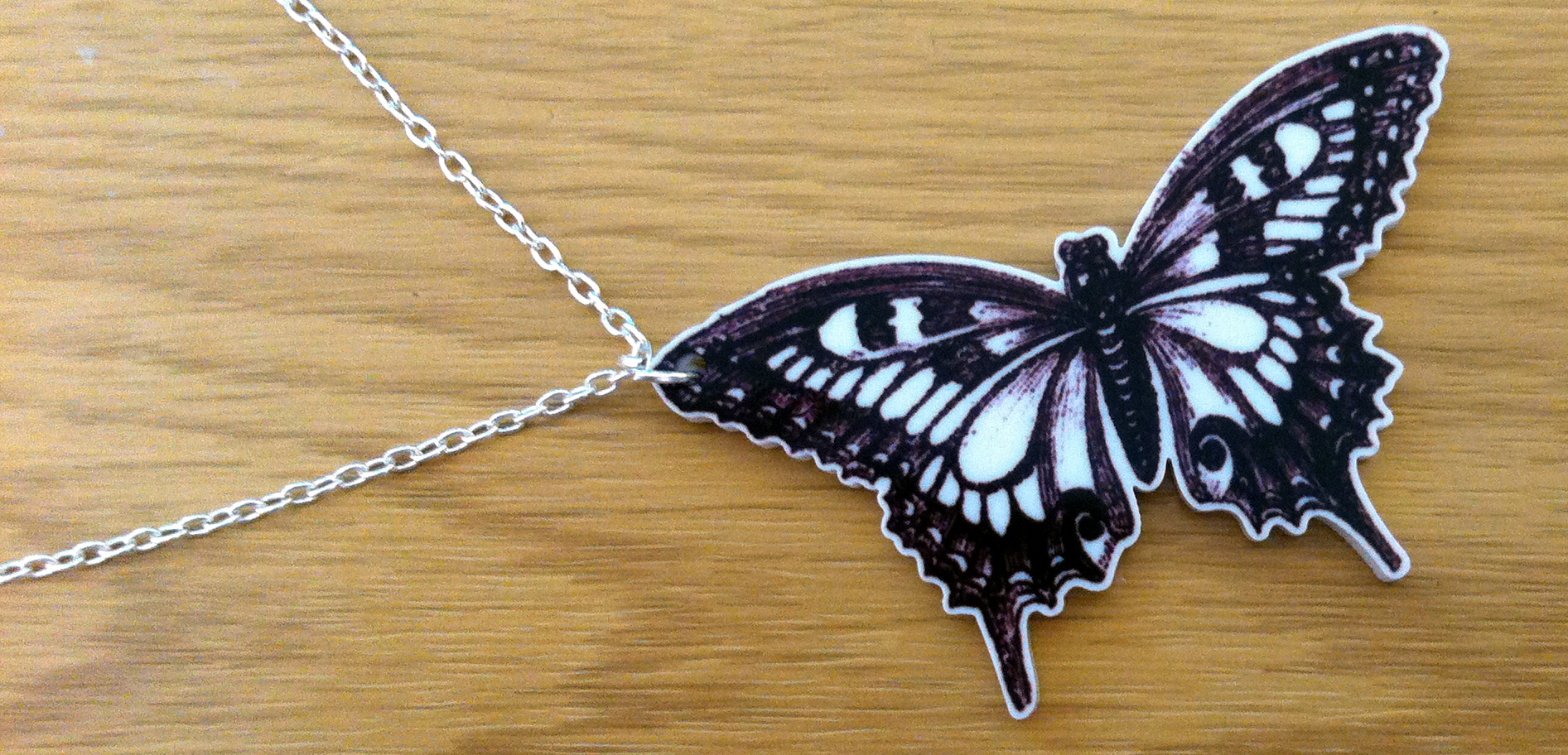 Acrylic Butterfly Necklace