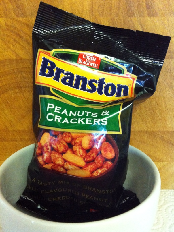 Branston Pickle Peanuts and Crackers