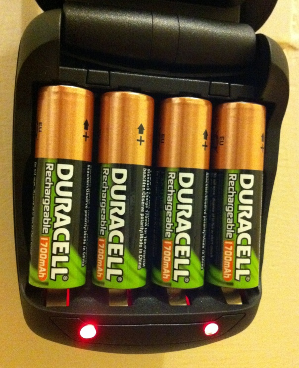 Duracell Speedy Charger with Rechargeable Batteries