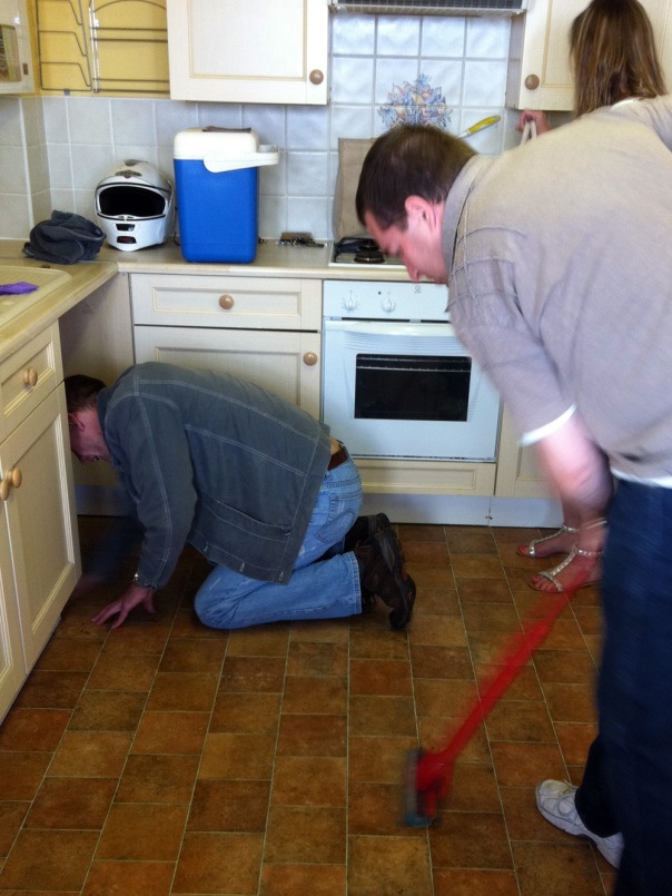 Even the men mucked in with the cleaning so we could get going