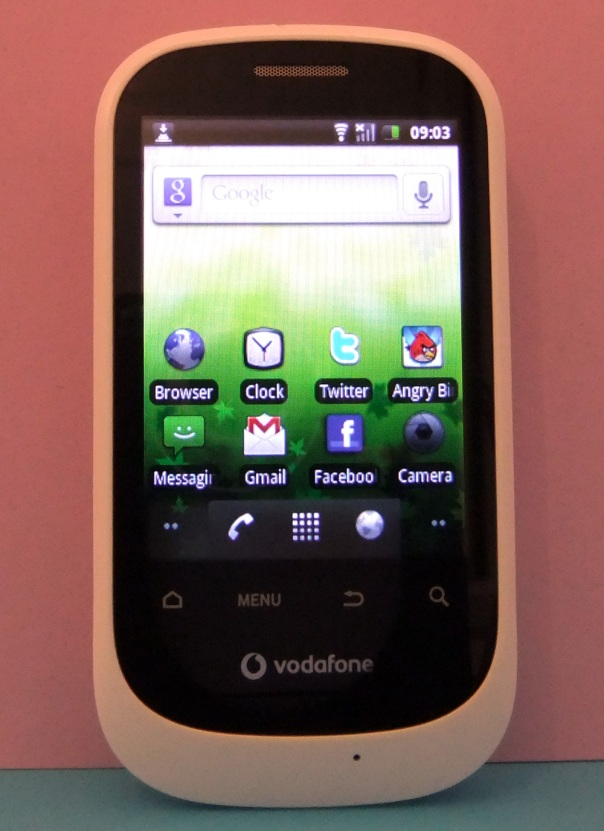 Vodafone 858 Smart - Home Screen