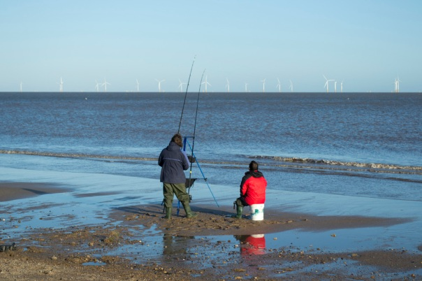 Fishermen on Skegness Beach
