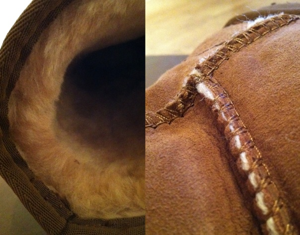 Whooga Ugg Boots - Fur and Stitching