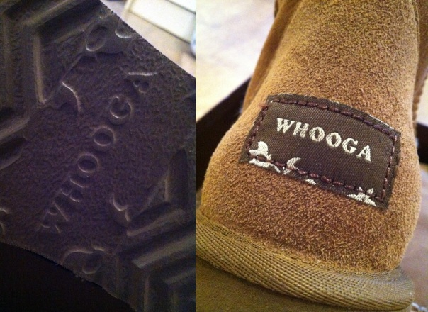 Whooga Ugg Boots - Labelling