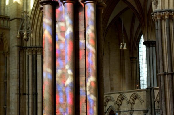 Lincoln Cathedral Coloured Pillar